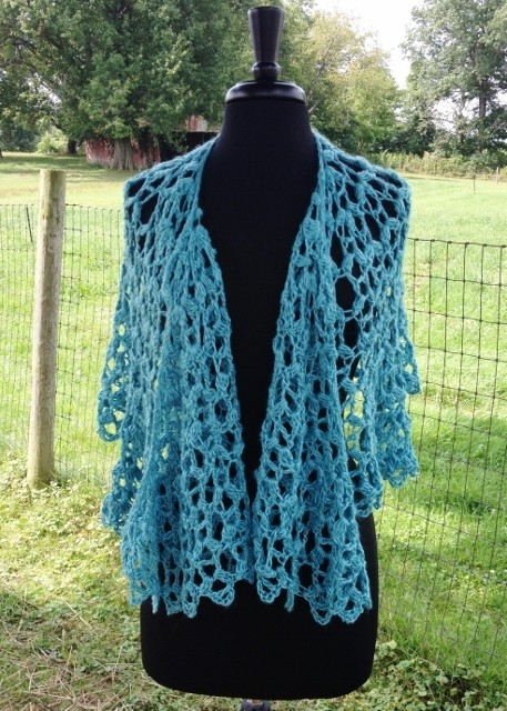 Graceful Shell Shawl