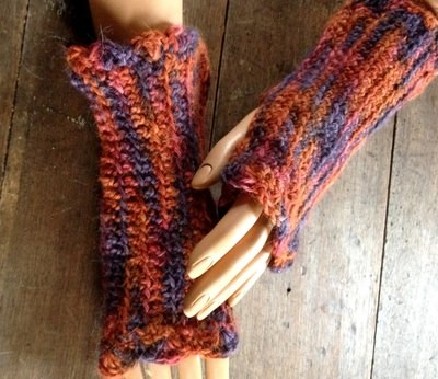Paca Paints Ribbed Fingerless Gloves