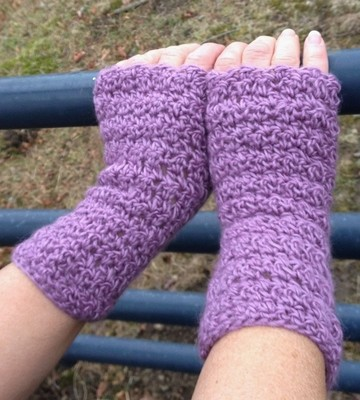 Textured Fingerless Gloves - Astral