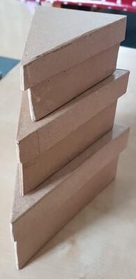 Papier-Mache Boxes - Triangular (set of 3)