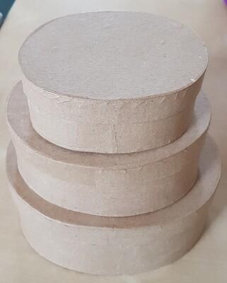 Papier-Mache Boxes - Oval (set of 3)
