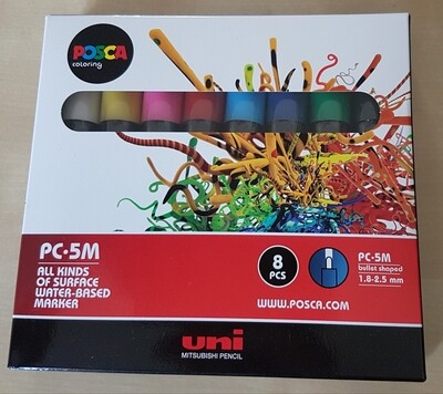 Posca Marker Pens PC-5M Pack of 8 Asstd