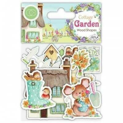 Craft Consortium Cottage Garden - Wooden Ephemera