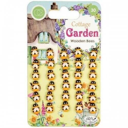 Craft Consortium Cottage Garden - Wooden Bees