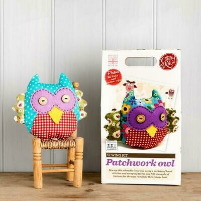 The Crafty Kit Company - Patchwork Owl Sewing Kit