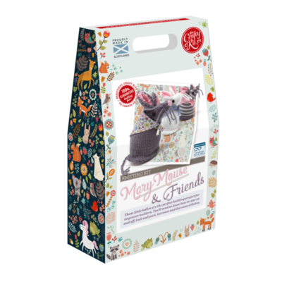 The Crafty Kit Company - Mary Mouse & Friends Knitting Kit