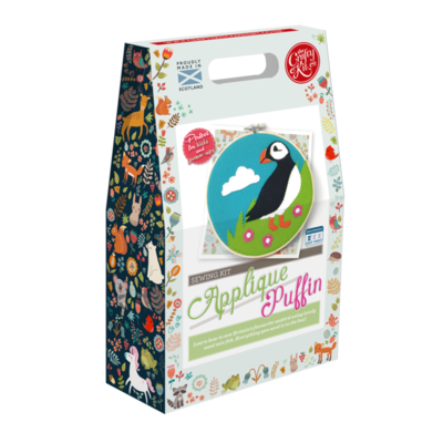 The Crafty Kit Company - Scottish Puffin Applique Kit