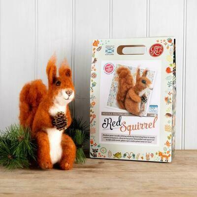 The Crafty Kit Company - Highland Red Squirrel Needle Felting Kit