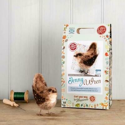 The Crafty Kit Company - Jenny Wren Needle Felting Kit
