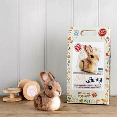 The Crafty Kit Company - Baby Bunny Needle Felting Kit