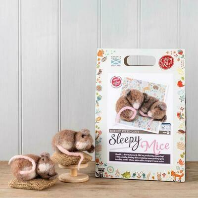 The Crafty Kit Company - Sleepy Mice Needle Felting Kit