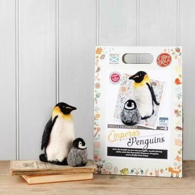 The Crafty Kit Company - Emperor Penguin Needle Felting Kit