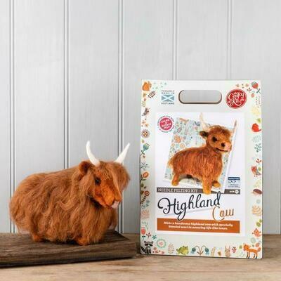The Crafty Kit Company - Highland Cow Needle Felting Kit