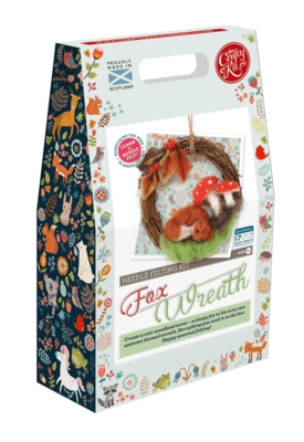 The Crafty Kit Company - Autumn Fox Wreath Needle Felting Kit