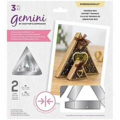 Gemini Double-sided Die - Dimensionals - Triangle Box