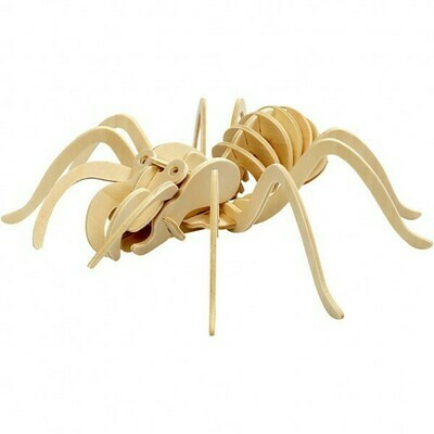 3D Wooden Construction Kit - Spider