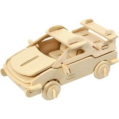 3D Wooden Construction Kit - Car