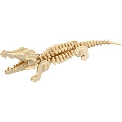 3D Wooden Construction Kit - Crocodile