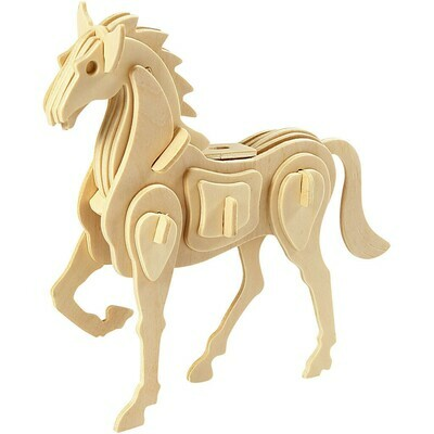3D Wooden Construction Kit - Horse