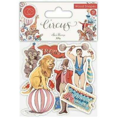 Craft Consortium - Circus - Wooden Ephemera Shapes