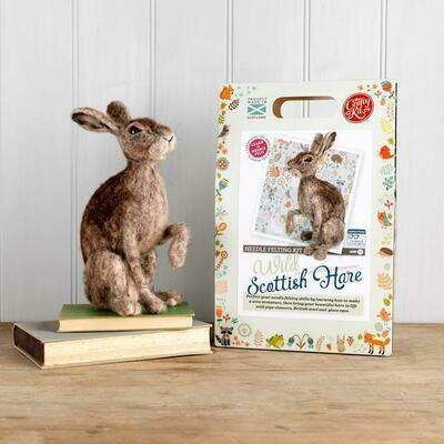 The Crafty Kit Company - Wild Scottish Hare Needle Felting Kit