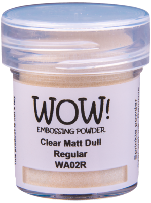 WOW! Clear Matt Dull embossing powder