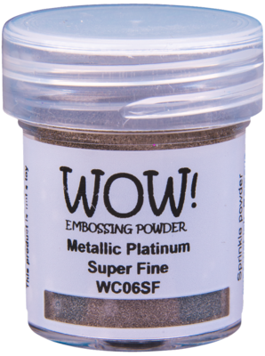 WOW! Metallic Platinum Super Fine embossing powder