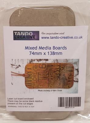 Tando Creative Mixed Media Boards 74mmx138mm