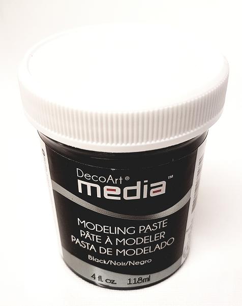 DecoArt Media - Modelling Paste Black