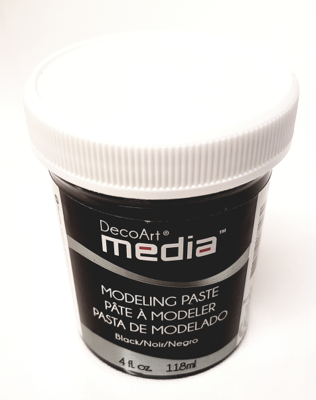DecoArt Media - Modelling Paste Black