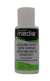 DecoArt Media Antiquing Cream - Titanium White