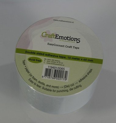 Craft Emotions Double Sided Craft Tape 65mm x 15m