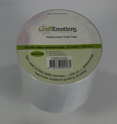 Craft Emotions Double Sided Craft Tape 100mm x 15m