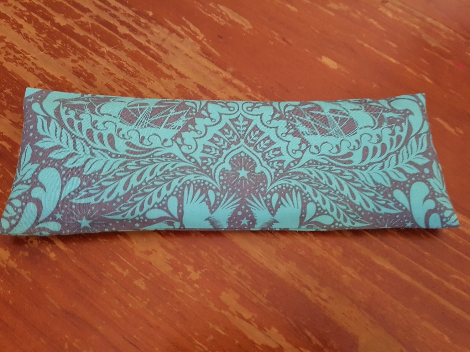 Eye Pillow - Turquoise/Taupe