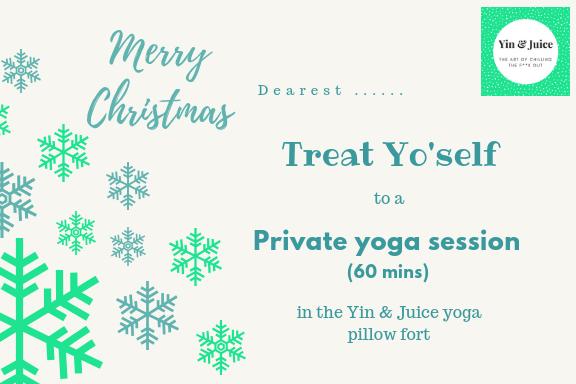Gift Certificate - Private Yoga Session (60 mins) GV001