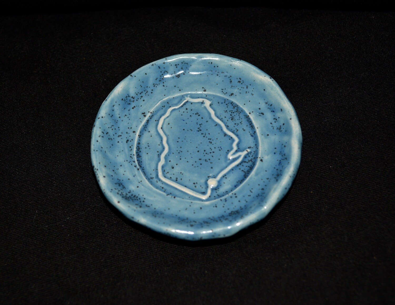 Blue Tiny Bowl with Wisconsin Artwork