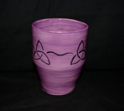 Lavender Medium Sized Tumbler with Celtic Triangles Artwork
