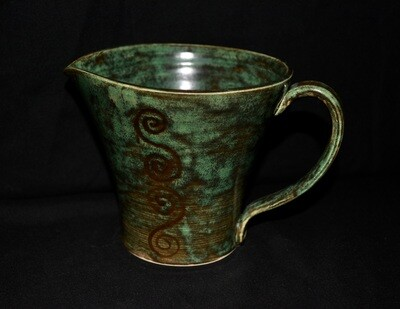 Dark Green Pitcher with Celtic Knot Artwork