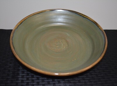Brownish Green Large Pie Plate