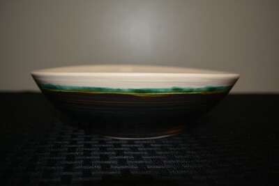 Large Two-Tone Bowl with Celtic Spiral Artwork