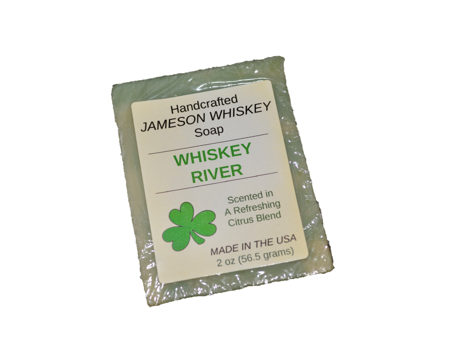 """""""Whiskey River"""" Handcrafted Jameson Whiskey Soap"""