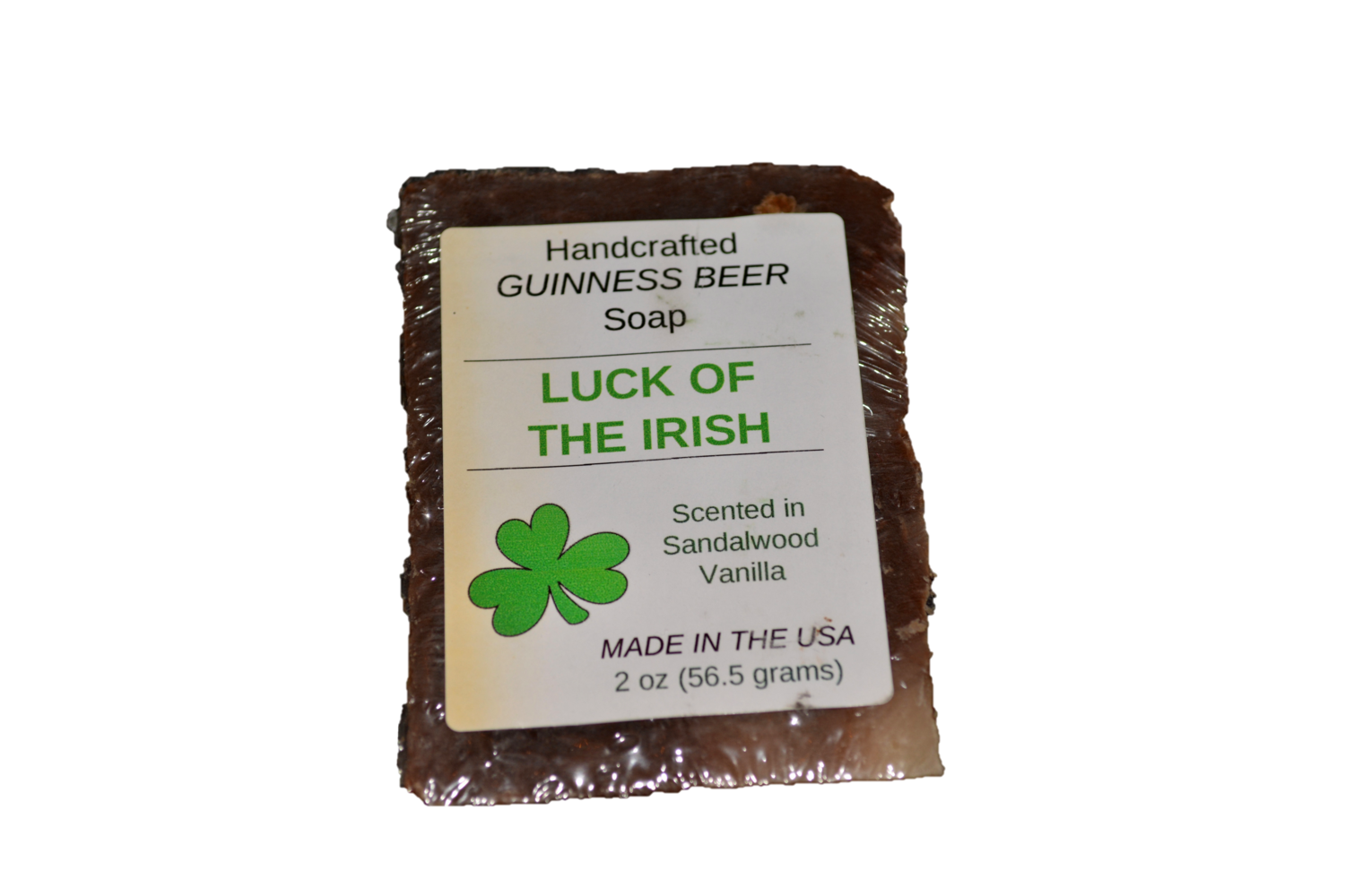 """""""Luck of the Irish"""" Handcrafted Guinness Beer Soap"""