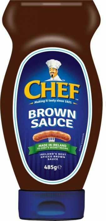 Chef Brown Sauce Squeezable Bottle 485g (17.1oz)