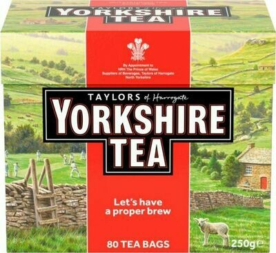 Yorkshire Red Teabags 80's 250g (8.8oz)