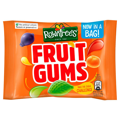Rowntrees Fruit Gums Pouch 43.5g (1.5oz)