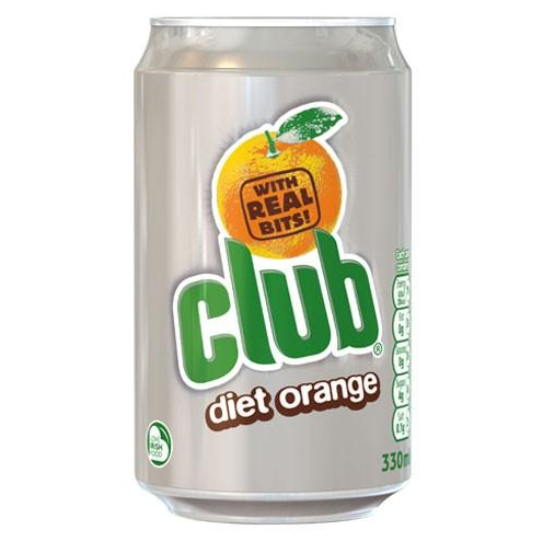Club Diet Orange Can 330ml (11.2fl oz)