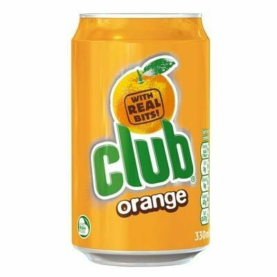 25 Cans of Club Orange Soda