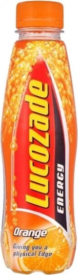 Lucozade Energy Drink - Orange Flavored Bottle 380ml (12.8fl oz)