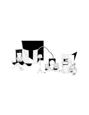 Imogen's Trailer Park Living Room,  8.5 x 11