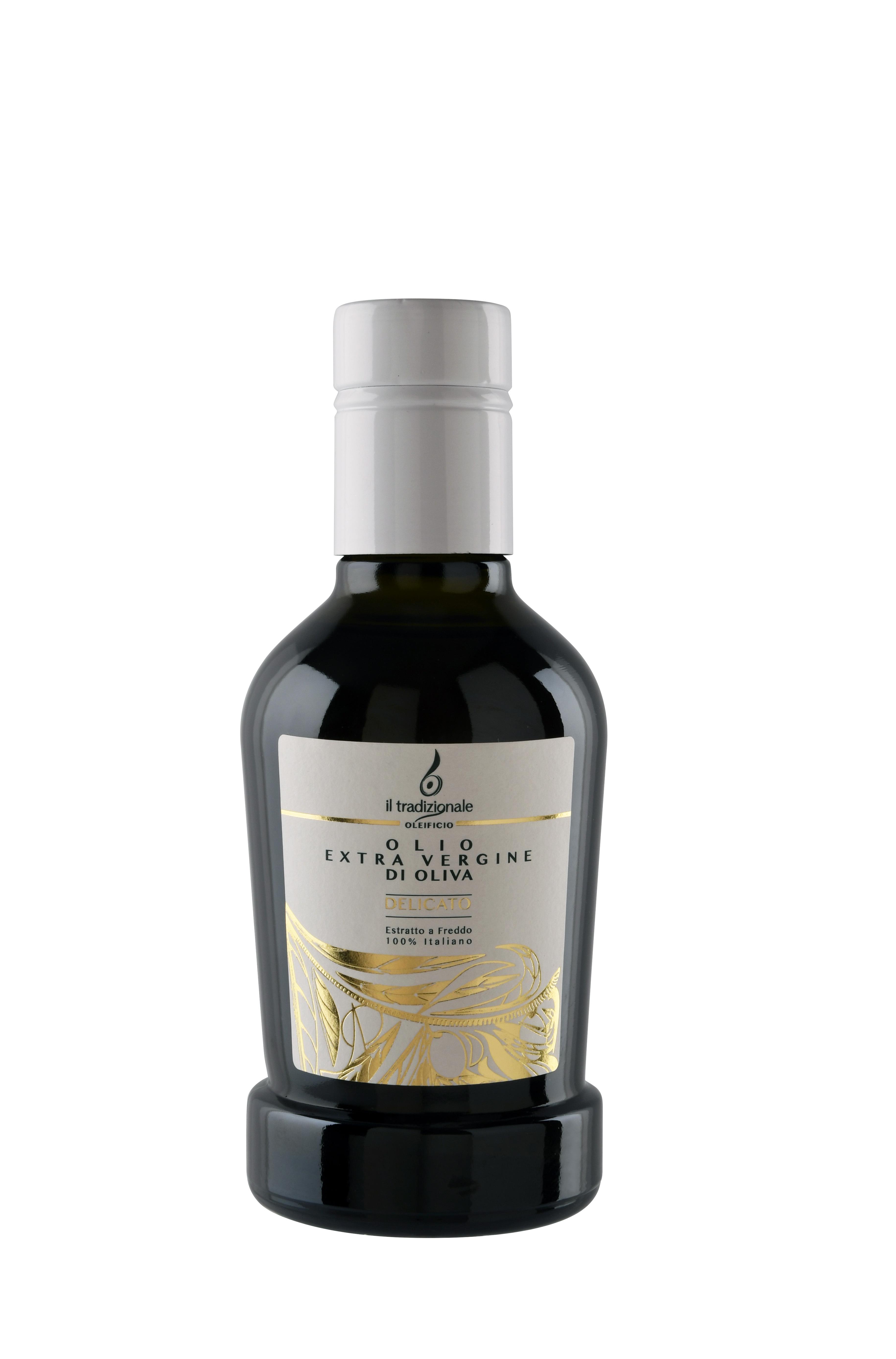"""Olio extra vergine di oliva """"DELICATO"""" - Formato bottiglia da 250 ml. 0004"""